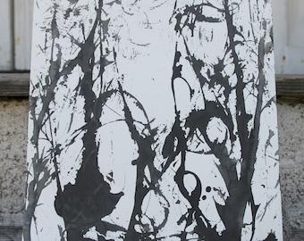 Skeletal Tecali III, painting by Kim Carlsson