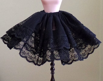 1:6 Scale Doll Fashion wear - Black Cancan Petticoat Sweet Lace Skirt Lolita Dolls accessories for BJD Blythe Pullip Barbie Monster High