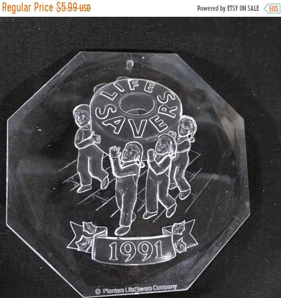APRILSALE 1991 Acrylic Life Savers collectible ornament on