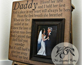 Father of the Bride Gift, Daughter to Father Gift, I Loved Her First, 16x16 The Sugared Plums Frames