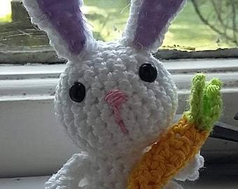 Crochet rabbit with carrot