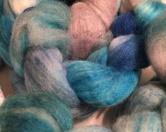 Polworth/Silk Blended Roving - Lightning Thief