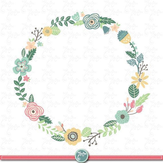 Wreaths Floral Clip Art WREATHS FLORAL Clip Art