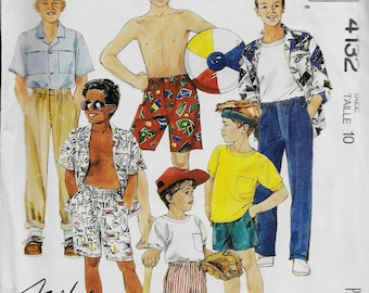 McCall's 4132      Children's/Boys Shirt, Top, Pants and Shorts    Size 10