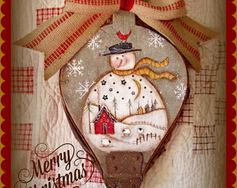Welcome Home Snowie - Painted by Martha Smalley, Painting With Friends E Pattern