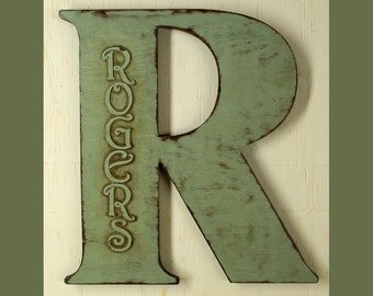 "18"" Extra Large Letter Wall Decor Wooden Letter Big Letter Personalized Large Letters 18"" Wedding Letter Extra Large Letter Monogram Letters"