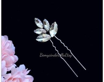 5 colors Hair Pins Bridal Hair Pins, Wedding Hair Pins, rhinestone Hair Pins, Bridal Hair Piece, Wedding Hair Piece, Pearl flower Hair Piece