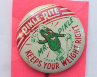 Pikle-Rite Mr. Pikle Tin Litho Pin