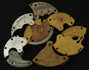 Destash Steampunk Watch Clock Parts Movements Plates Art Grab Bag RD 46