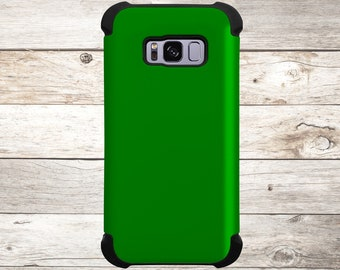 Solid Color Green Phone Case for apple iphone, samsung galaxy, and google pixel