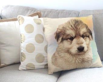 Dog Portrait, Dog Print, Dog Painting, Dog Cushion, Dog Pillow, German Shepherd Cushion, German Shepherd Pillow, Dog Cushion Cover,Dog Gift