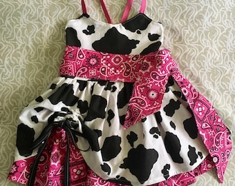 Toddler Cow Dress