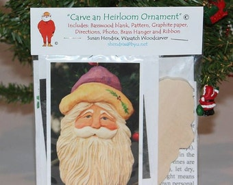 Wood Carving Kits for carving enthusiasts who are looking to carve their own Christmas ornament, giving the best of themselves. Try my kits!