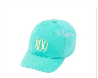 Momogrammed Kids Hat/ Monogrammed Baseball cap for Kids Hat/ Monogrammed Ball Cap/ Monogrammed Kids ball hat