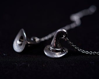 Witches Hat Threader Earrings