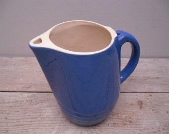 stoneware pitcher / cobalt blue / milk pitcher
