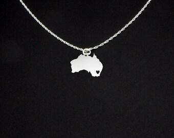 Australia Necklace - Australia Jewelry - Australia Gift