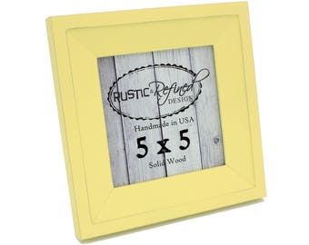 5x5 Haven picture frame - Daffodil, Free Shipping