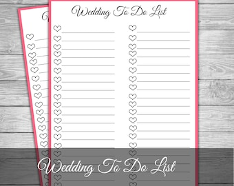 Wedding to do list etsy wedding to do list wedding checklist wedding banner wedding organiser wedding notepad junglespirit Gallery