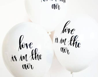 Calligraphy Balloons | love is in the air balloons | Wedding Balloons | Ready to ship