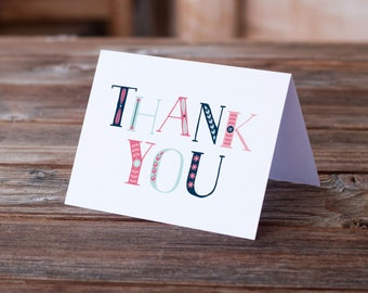 Clearance | Thank You Card | Lovely Letters | Greeting Card | Typography