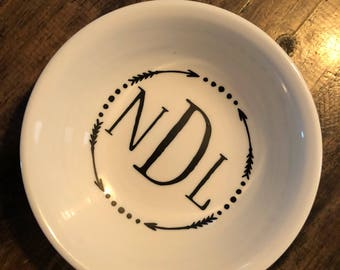 Ring dish-gifts for her- monogram- Mother's Day