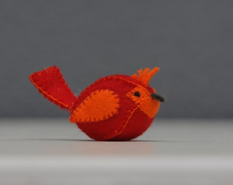 Cardinal bird, Cute little felt cardinal bird