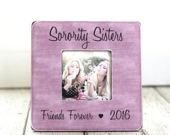 Sorority Big Sister Little Sister Christmas Gift Picture Frame Personalized Gift Rush Week