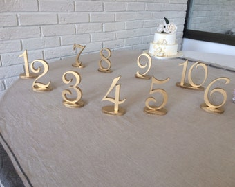 GOLD table numbers Silver table numbers Glitter numbers wedding DIY table numbers wedding do it your self