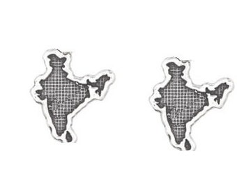 India Cufflinks in solid sterling silver Free Domestic Shipping