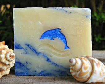 DOLPHIN SOAP, Soap with Dolphin design, Gift from Hawaii for Girl, Boy, Man, Woman! 4 oz.
