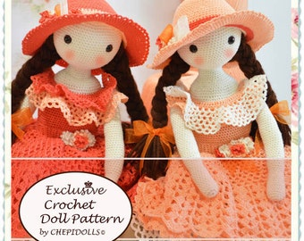 PATTERN, Crochet doll pattern