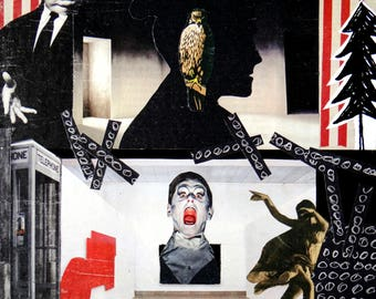 Anxiety, handcut collage