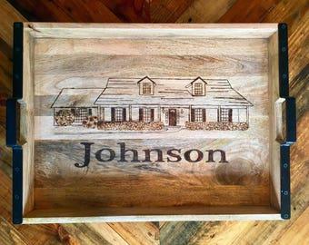 Custom Woodburning Tray