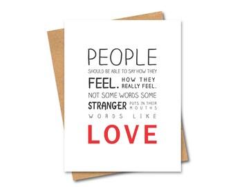 500 days of Summer Card - Love - Oxymoron
