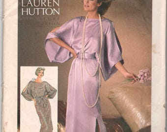 Simplicity 6700 1980s Misses Evening Dress Pattern Hollywood Glamour Womens Vintage Sewing Pattern Size 12 14 16  Bust 34 36 38 UNCUT