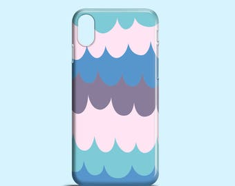 Bold Waves iPhone 8 case / iPhone X, Purple iPhone 7, iPhone 7 Plus case, waves iPhone 6S case, graphic iPhone 6 case, bright iPhone5/5S/SE