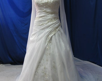 Plus Size Wedding Dress with Sleeves Medieval Style Customizable