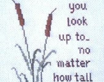 A Father Is Someone...Counted Cross Stitch Pattern Chart Sampler