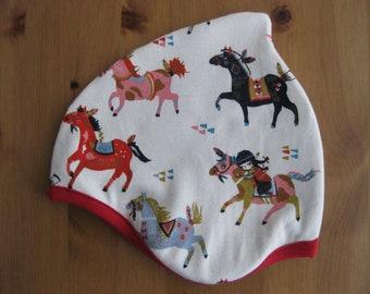 Organic cap horses, spring, kids, baby, Horses, pony, Indians, organic
