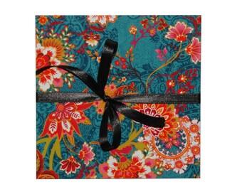 leporello photo album with fabric