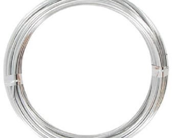 50 FEET 18 Gauge Aluminum Wire 1mm- Jewelry- Crafts