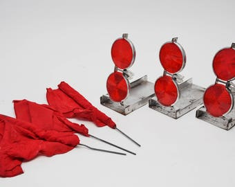 VINTAGE ROADSIDE Reflector & Flag Kit-Roadside Visibility Kit-Vintage Road Flags