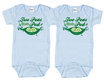 Twin Boy Baby Shower, Two Peas in a Pod, sizes from 0 to 12 months, Twin Boys Baby Shower