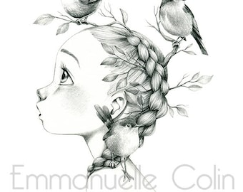 """Wild reproduction A4 """"3 birds"""""""