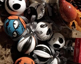 Nightmare Before Christmas Ornaments/ Tree topper