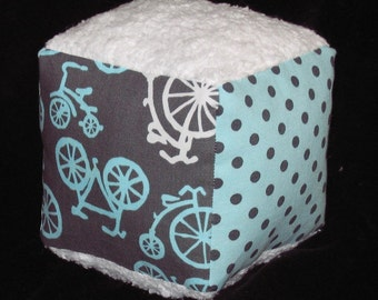 Fun Bicycles Fabric Block Rattle Toy