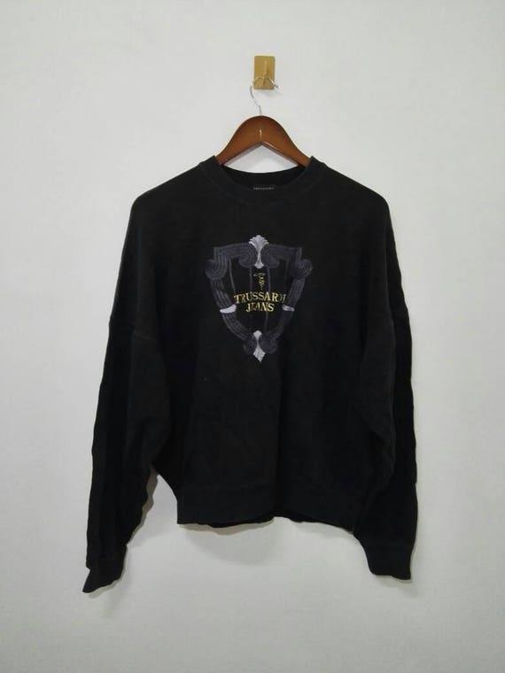 Vintage Trussardi Sweatshirt Embroidery Logo Nice Design 1YSjK19l
