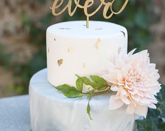 Wedding Cake Topper, Best Day Ever, Cake Topper, Custom Cake Topper, Rustic Cake Topper, Gold Cake Topper, Best Day Ever, Wedding Topper