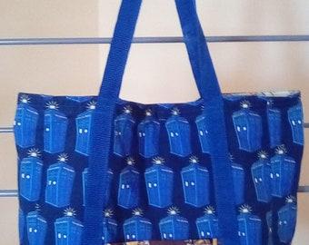 Doctor Who's TARDIS and Dalek Tote Bag